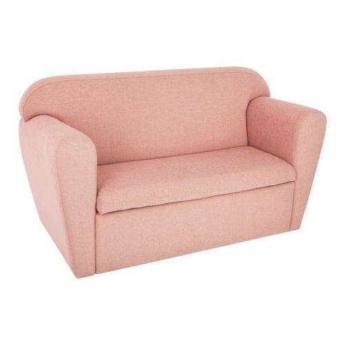Atmosphera créateur d'intérieur Sofa dwuosobowa ze schowkiem na zabawki - kolor różowy, 80 x 35 x 45 cm - OKAZJE