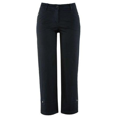 Spodnie ze stretchem 7/8 czarny, Bonprix, 34-50