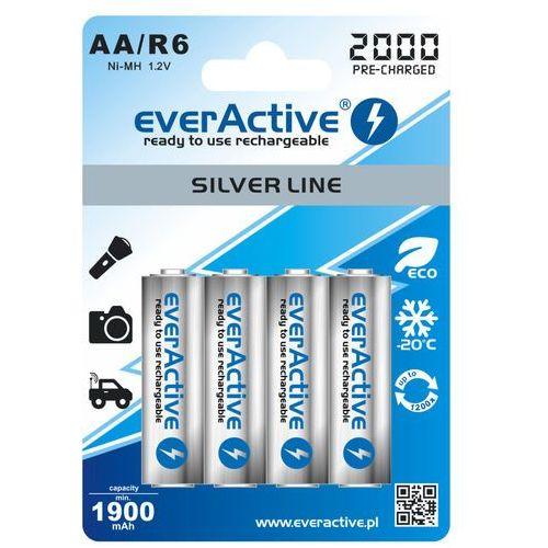 "Everactive 4x  r6/aa ni-mh 2000 mah ready to use ""silver line"""