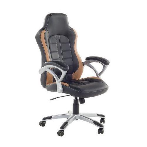 Krzesło biurowe czarno-jasnobrązowe regulowana wysokość prince marki Beliani