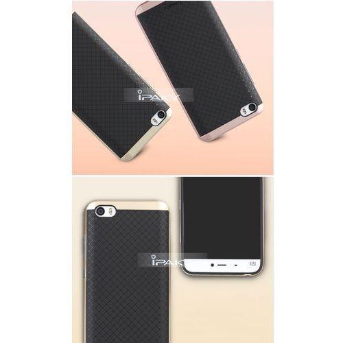 Etui iPaky Premium Hybrid Xiaomi Mi5 Silver + Szkło, kolor szary