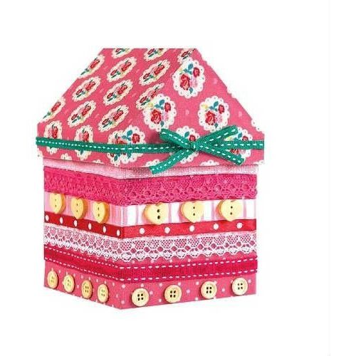 Creativehobby Różowy domek do dekoracji - zestaw kreatywny