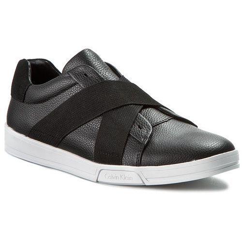 Półbuty black label - baku tumbled leather f0798 blk black, Calvin klein, 40-42