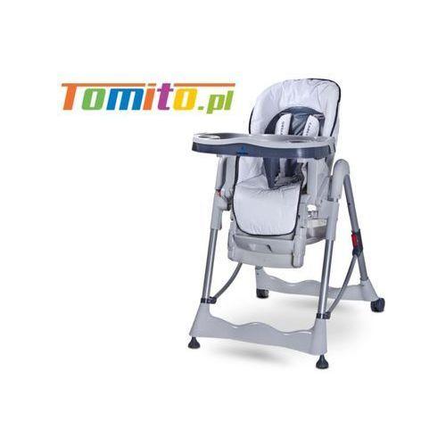 Wysokie krzesełko do karmienia magnus white marki Caretero