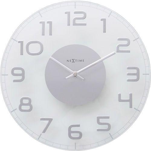 Okrągły zegar ścienny Classy Nextime 30 cm, transparentny (8817 TR)