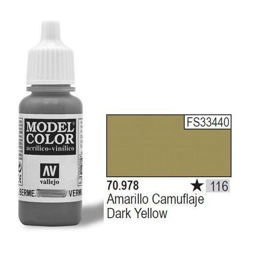 Vallejo Farba Nr 116 Dark Yellow 17ml Matt (8429551709781)