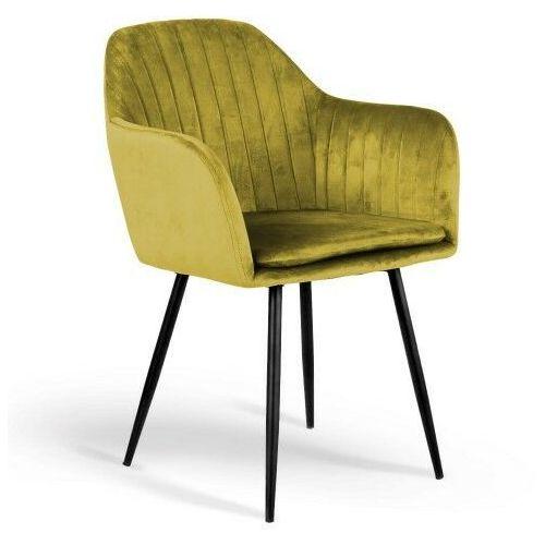 Krzesło tapicerowane 8174 żółty welur marki Meblemwm