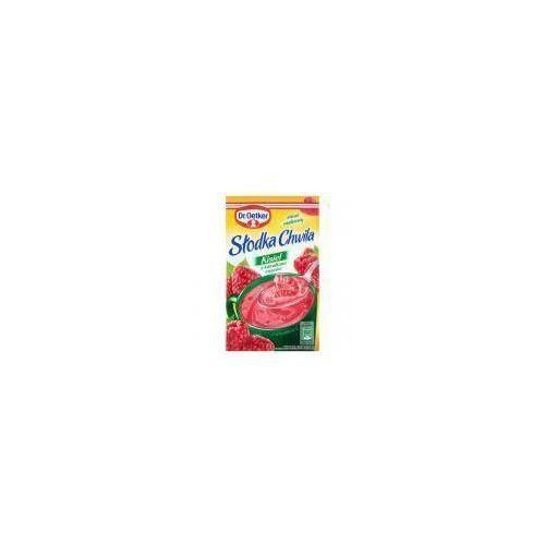 Kisiel z kawałkami owoców smak malinowy słodka chwila 31,5 g  marki Dr. oetker