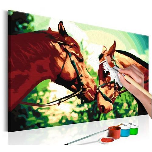 Obraz do samodzielnego malowania - malowanka - konie marki Artgeist