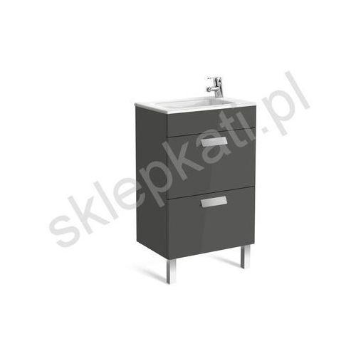ROCA Debba Unik Compacto szafka szary antracyt połysk + umywalka 50 A855904153