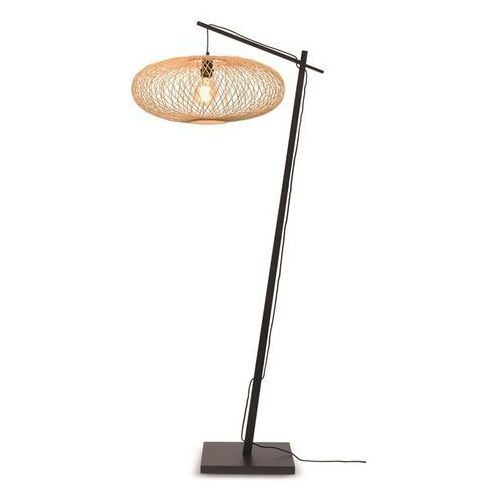 lampa podłogowa cango czarna 60x25 naturalny cango/f/ad/b/6025/n marki Good&mojo