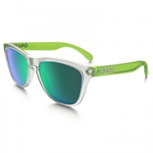 Okulary Oakley Frogskins COLORBLOCK Matte Clear Jade Iridium OO9013-B4