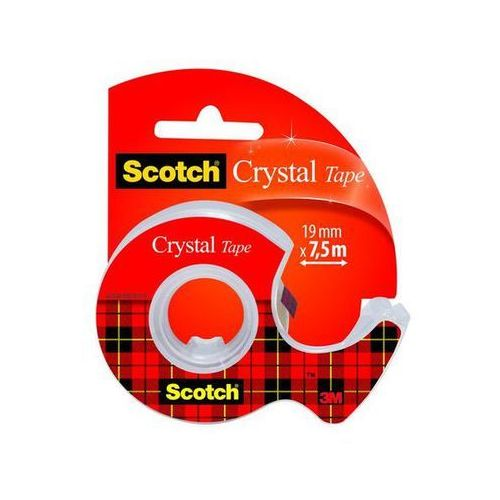 Scotch taśma klejąca crystal na podajniku 6-1975, 19mm x7,5m marki 3m