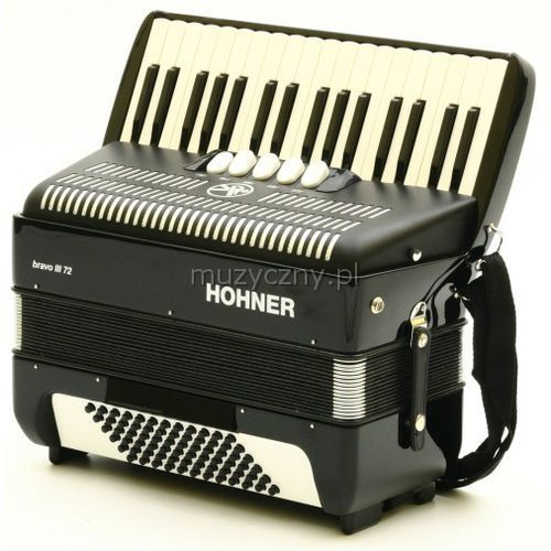 Hohner Bravo III 72 akordeon (czarny)