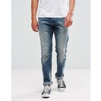 Tom tailor regular fit jeans with heavy wash - blue