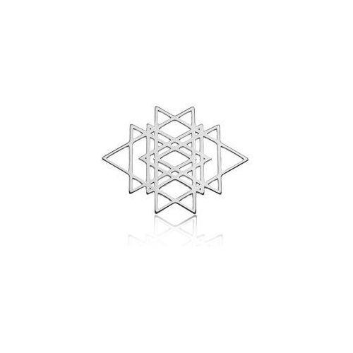 Duża zawieszka - ażurowa geometryczna, srebro próba 925 BIG BL 10, BIG BL 10