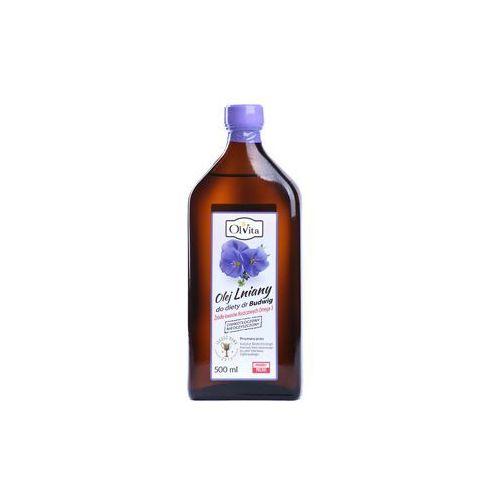 Olej lniany Budwigowy 500ml Olvita. Najniższe ceny, najlepsze promocje w sklepach, opinie.