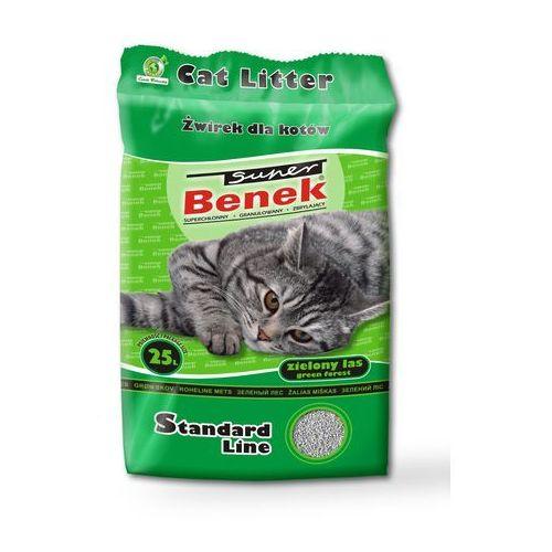 Certech super benek standard zielony las - żwirek dla kota zbrylający 25l (20kg)