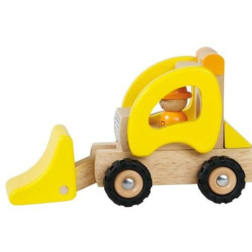Goki Samochód drewniany - spychacz