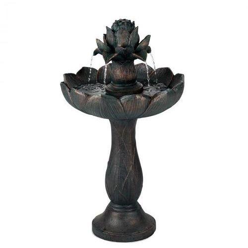 rose belle fontanna ogrodowa z tworzywa polyresin 6 w romantyczne wzornictwo imitacja metalu marki Blumfeldt