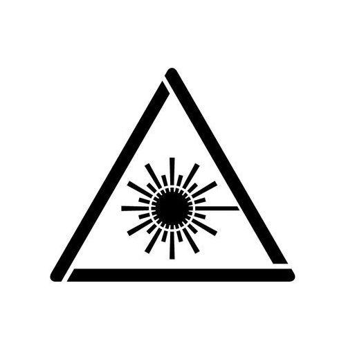 Szablon do malowania Znak ostrzeżenie przed wiązką laserową GW004 - 17x20 cm