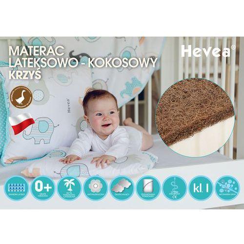 Materac lateksowo kokosowy krzyś 120x60 pozytywna opinia instytutu matki i dziecka, wyrób medyczny kl. i marki Hevea