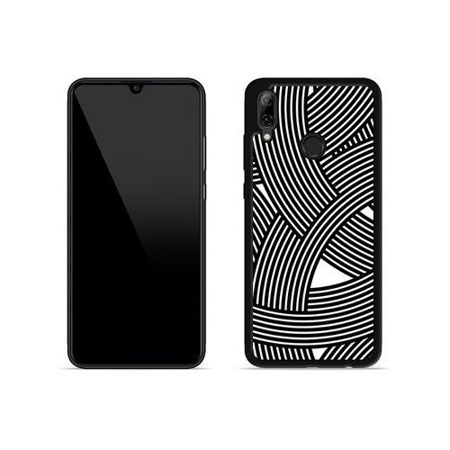 Huawei P Smart (2019) - etui na telefon Aluminum Fantastic - biało-czarna mozaika, kolor wielokolorowy