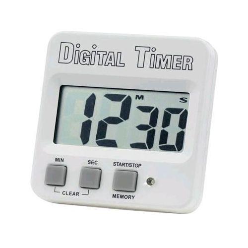 Minutnik cyfrowy biały, 62 x 60 x 15mm
