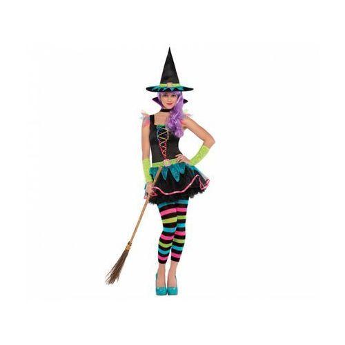 Kostium Neonowa Wiedźma dla dziewczyn - 10/12 lat (152) (0013051492113)