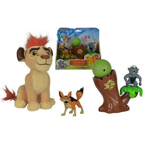 Simba lwia straż zestaw walka ratela bungi z kojotem i maskotka lew kion z dźwiękiem