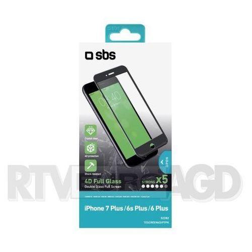 SBS 4D Glass Screen Protector TESCREEN4DIP7PK iPhone 7 Plus/6S Plus/6 Plus (czarny) - produkt w magazynie - szybka wysyłka! (8018417232282)