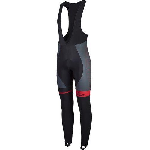 Rogelli Andrano - męskie spodnie rowerowe z wkładką żelową (czarno-czerwony)