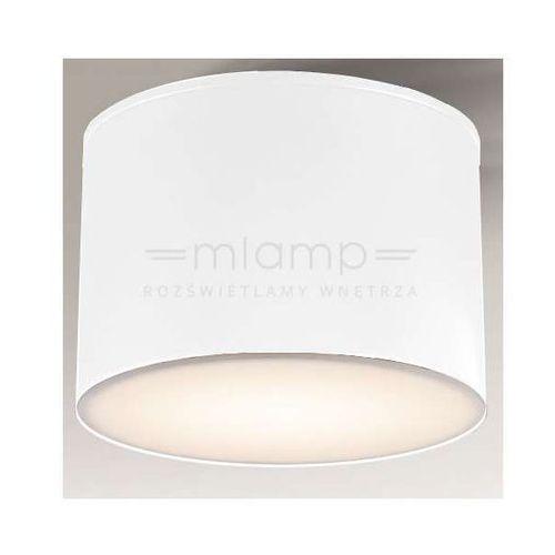 Shilo Plafon lampa sufitowa suwa 8001/gx53/bi minimalistyczna oprawa natynkowa ip44 biała