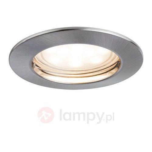 Paulmann Lampa wpuszczana led coin ip44 żelazo szczotkowane
