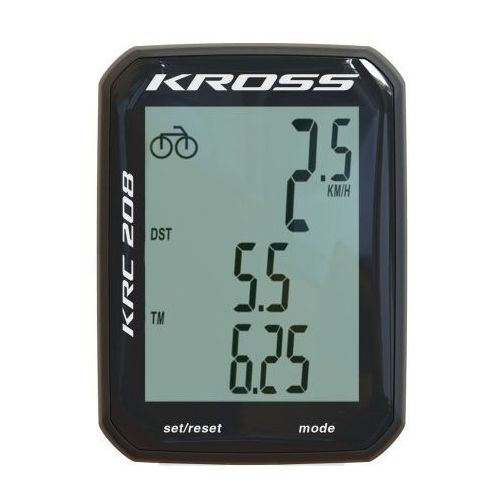 Kross Przewodowy licznik rowerowy firmy krc 208 8 funkcji t4cli000160 czarny