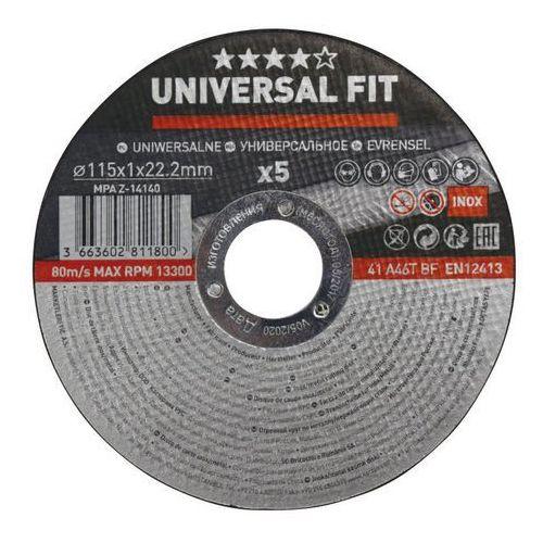 Zestaw tarcz inox 115 x 1 mm 5 szt. marki Universal fit
