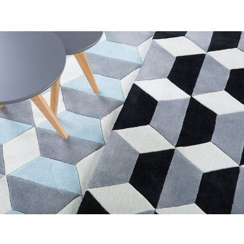 Beliani Dywan czarno-szaro-biały 160x230 cm antalya