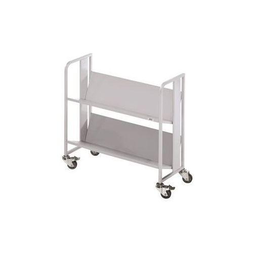 Wózek na napoje, 2 piętra, nośność na piętro 40 kg, biały aluminium. do wszystki marki Quipo