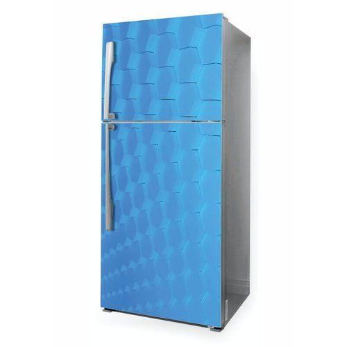 Wally - piękno dekoracji Naklejka na lodówkę niebieskie sześciokąty p1047