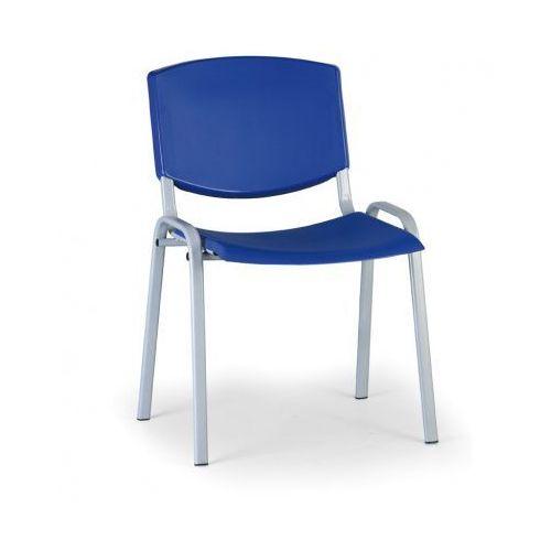 Krzesło konferencyjne Smile, niebieski - kolor konstrucji szary