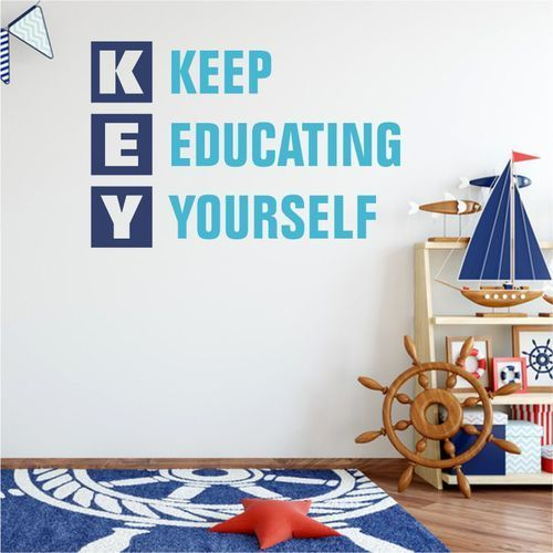Szablon na ścianę KEY: Keep educating yourself 1953