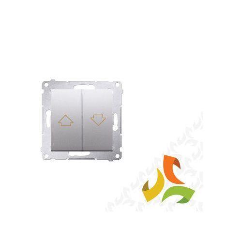 Wyłącznik żaluzjowy, srebrny mat do sterowania z wielu miejsc z blokadą elektryczną DZP1W.01/43 SIMON 54 PREMIUM