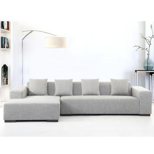 Sofa szara - sofa narożna R - tapicerowana - LUNGO