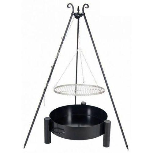 Grill ogrodowy FARMCOOK ruszt stal nierdzewna 50 cm+ palenisko ogrodowe PAN 37 60 cm