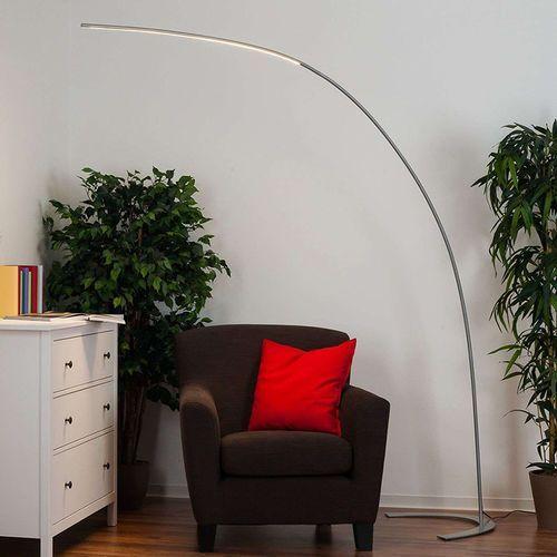 Nowoczesna lampa podłogowa łuk aluminium led ściemniacz - piegato marki Lindby