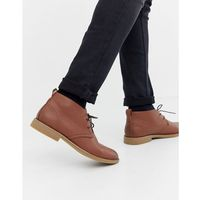 faux leather desert boots in tan - tan, New look