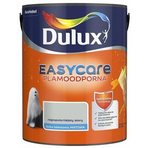 Farba wewnętrzna easycare 5 l najpopularniejszy szary plamoodporna marki Dulux