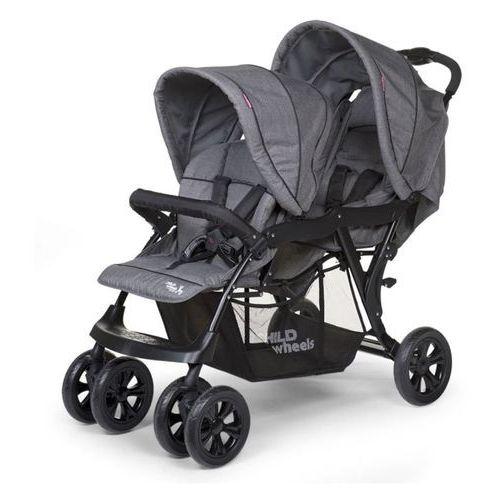 CHILDWHEELS Podwójny wózek spacerowy Canvas RC, szary CWTAN (5420007143725)