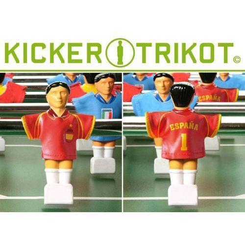 Komplet koszulek reprezentacji państw dla postaci do piłkarzyków - Hiszpania