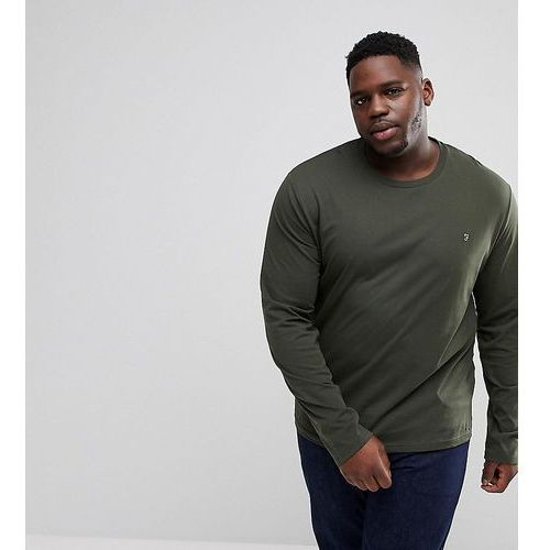 Farah Farris slim fit long sleve t-shirt in green Exclusive at ASOS - Green, kolor zielony